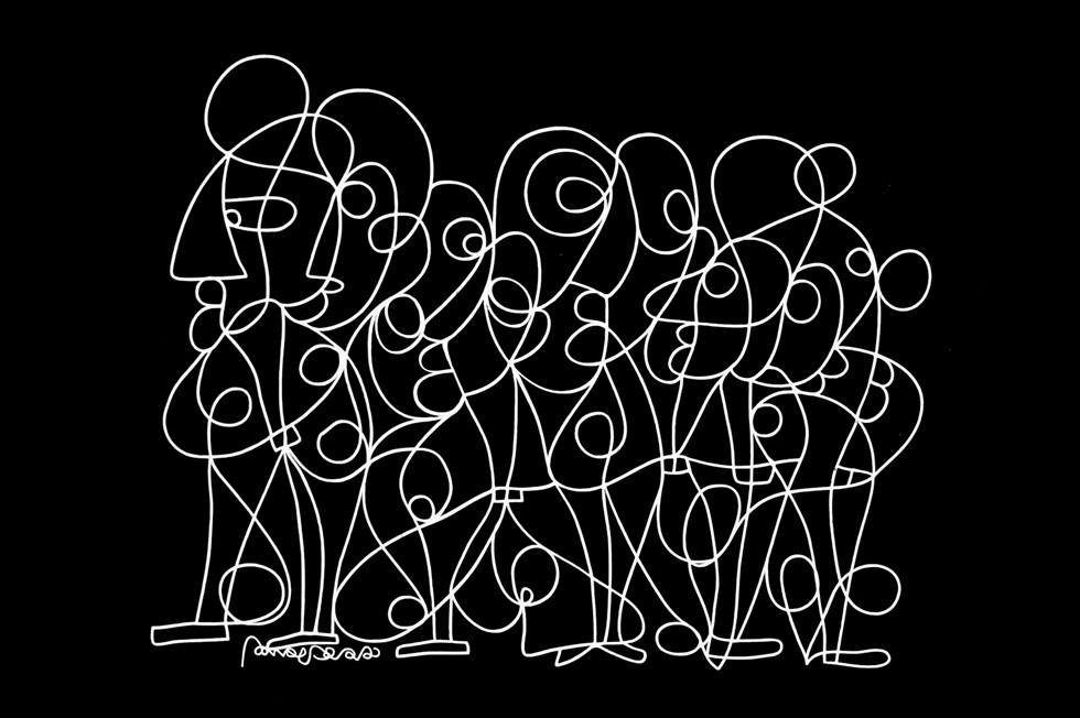 ניסים בן אדרת, Introduce oneself 130x100 cm, oil on canvas, גלריה אקספרשיינס