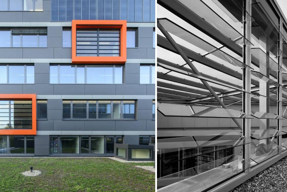 משמאל: בנין משטרה בגרמניה, מימין: בנין משרד המשפטים, גרמניה