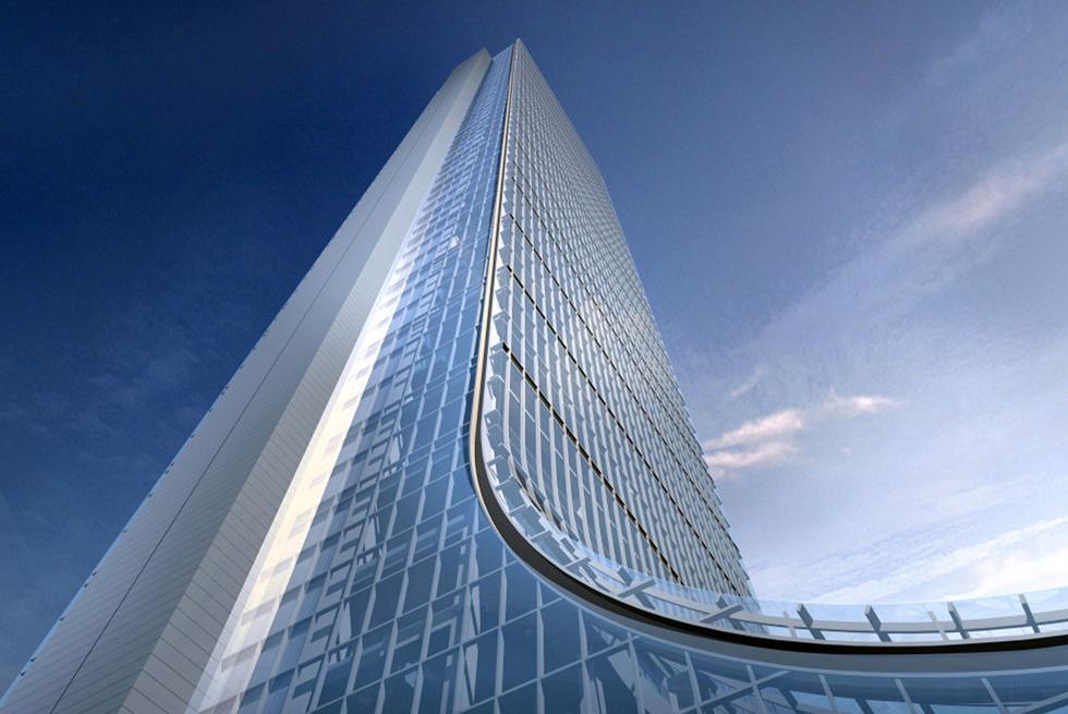 חלונות שחרור חום ועשן Eurolam בבנין Sapphire Tower - הבנין הגבוה ביותר בתורכיה.