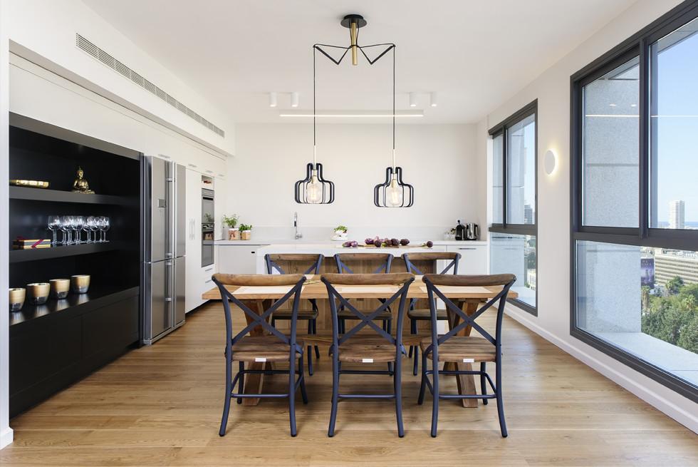 דירת חמישה חדרים שהפכה לשלושה, עיצוב: שרון איגר, צילום: מושי גיטליס