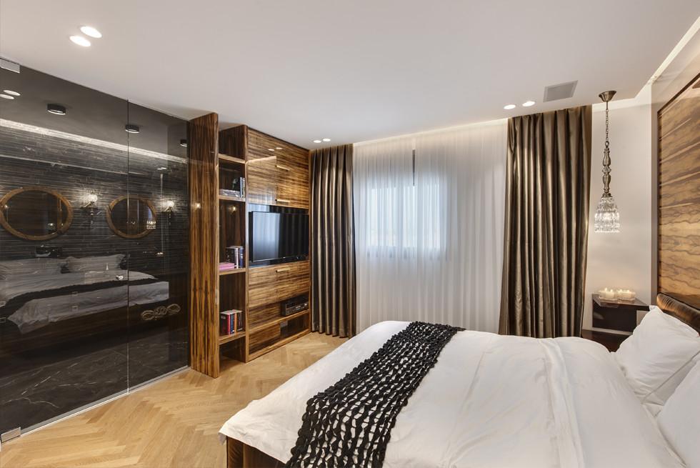חדר השינה, זכוכיות וחיפויים - אתגר בזכוכית, צילום: עודד סמדר