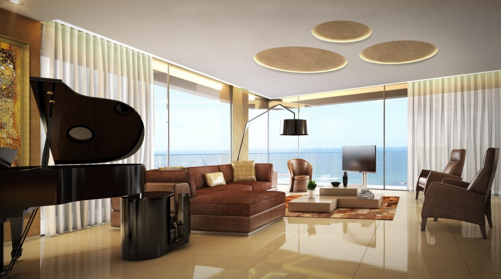 אדריכל מיקלה סימאונה, דירת יוקרה בבניין בוטיק - גורדון תל-אביב