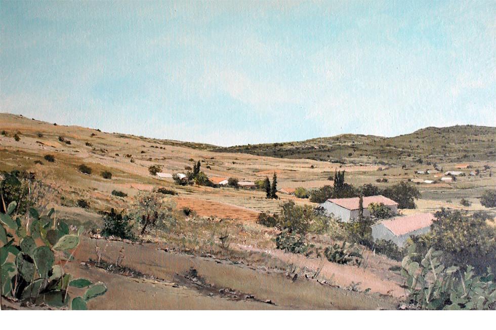 אסף שני, EinMatah, 2015, Acrylic On Canvas, 50X80cm, גלריה פחות מאלף