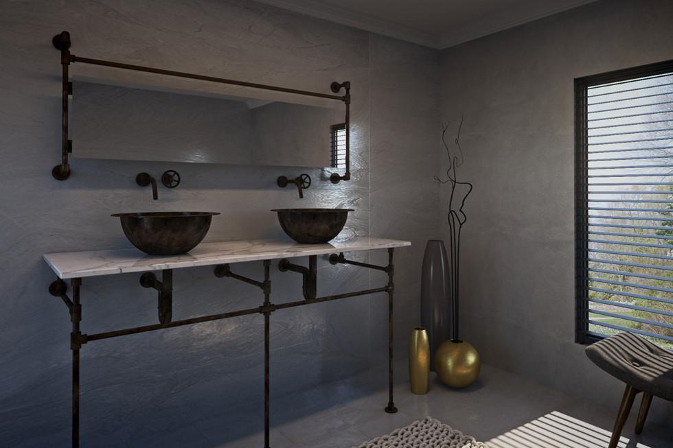 הקונסולות, הכיורים והמראות של WATER DESIGNS מגיעים בגימורים שונים כמו: פליז, פליז מושחר ונחושת