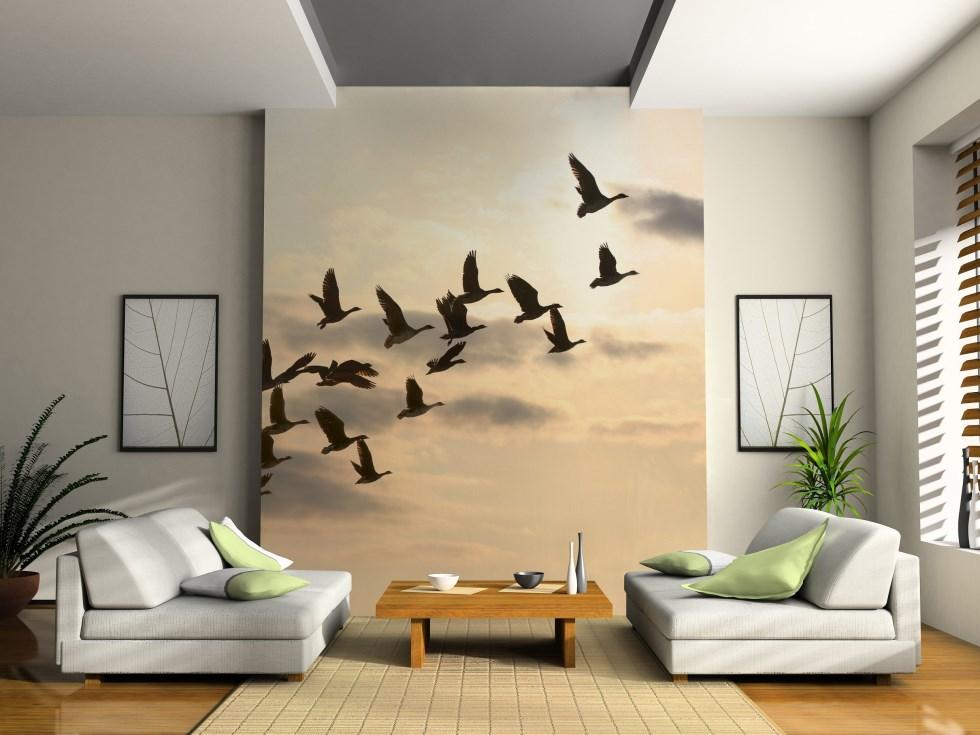 ציפורים נודדות - הדפס לתמונת זכוכית, א.א מראות