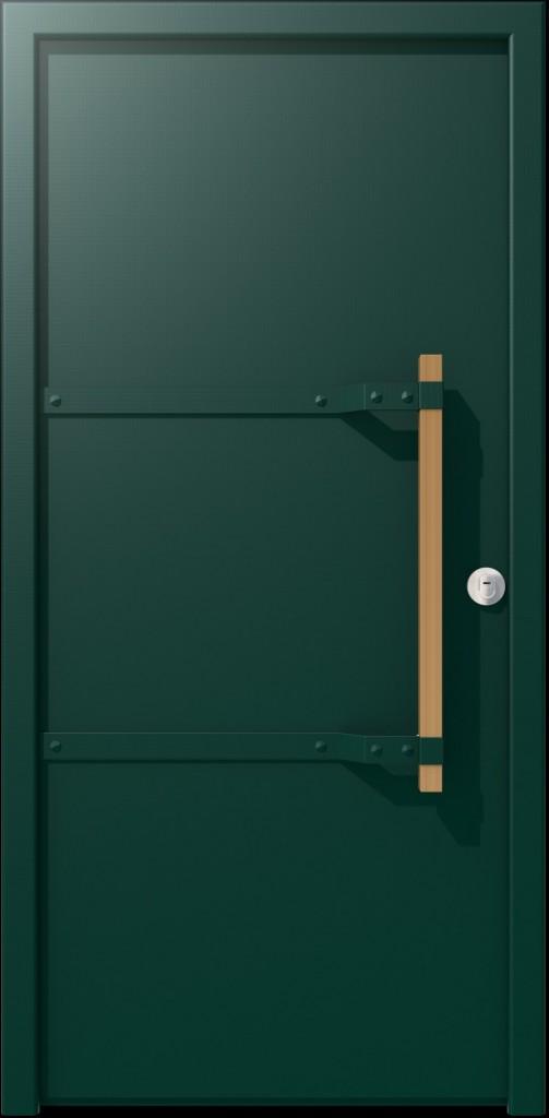 דלת בצבע 'הירוק הנכון' של דלתות רשפים