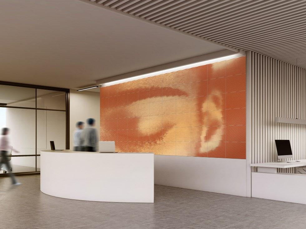airtiles-mural-focus-orange-on-gold-aluminum